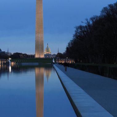 Washington Monument & The Reflecting Pool. Washington, DC