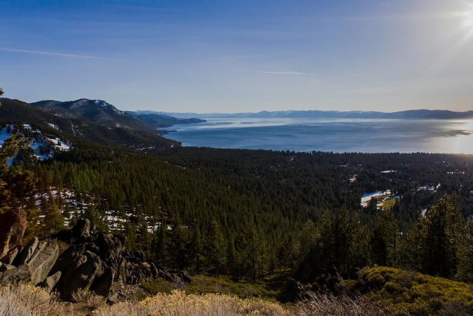 View of Lake Tahoe.