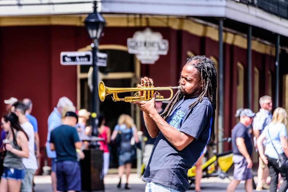 Each time I've been to NOLA, the people playing music on the sidewalks, or in the street...