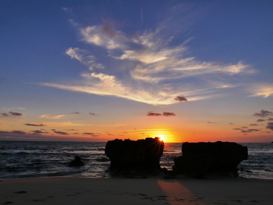 Sunset at Sorrento back beach, Victoria Australia.