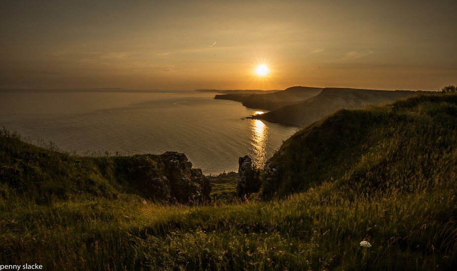 Sunset Jurassic Coast, Dorset, England