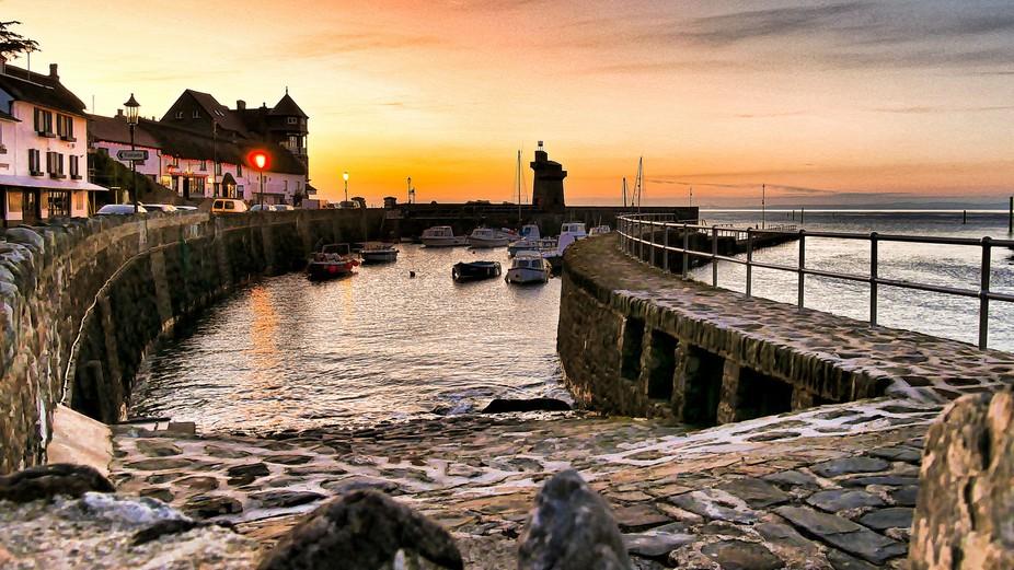 Lynmouth, North Devon. At sunset.
