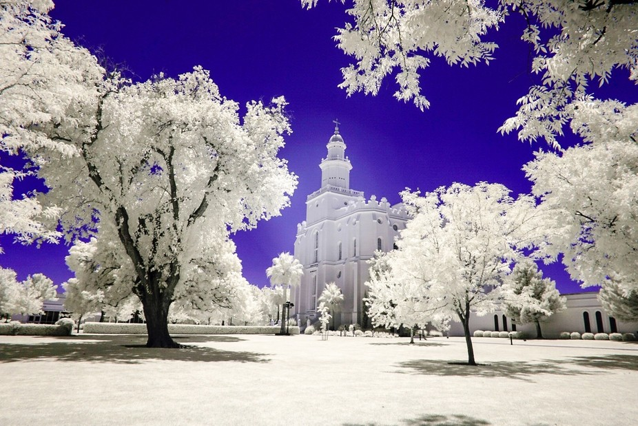The LDS Saint George Temple in Utah, Taken with a Sony A6000 full spectrum converted camera and u...
