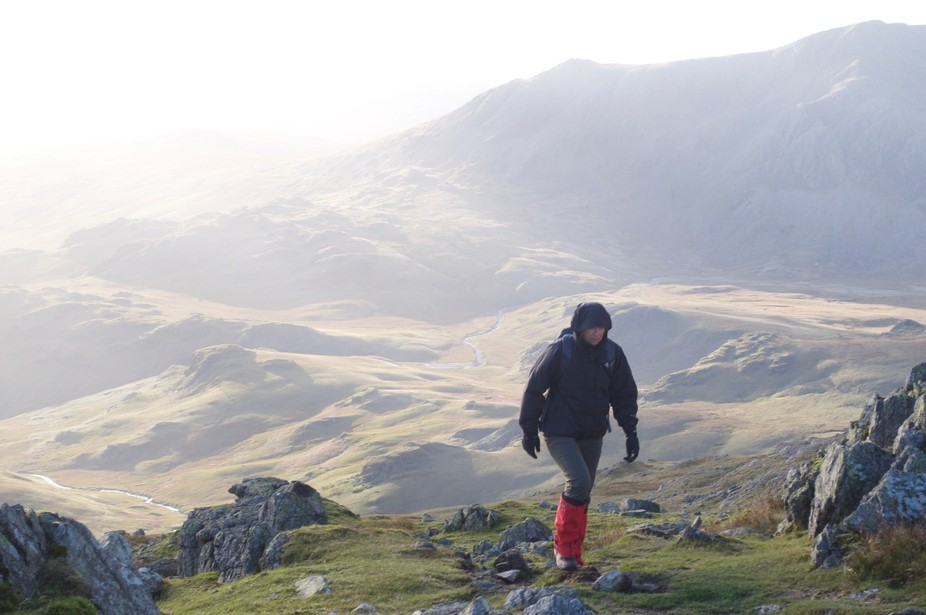 Crinkle Crags in a high wind