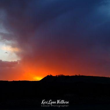 fire in the sky sunrise