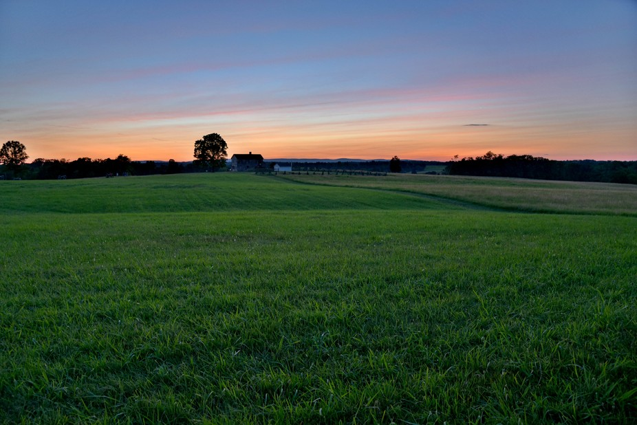 Sunset on the battlefield at Manassas