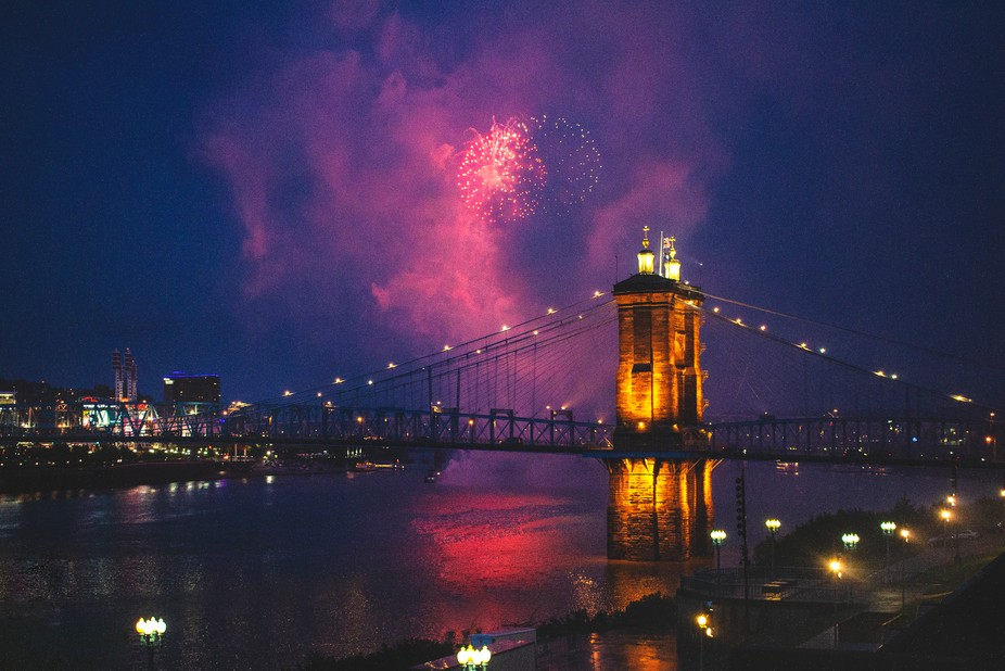 I quickly shot this during an event I was photographing in Cincinnati. I heard the loud bangs and...