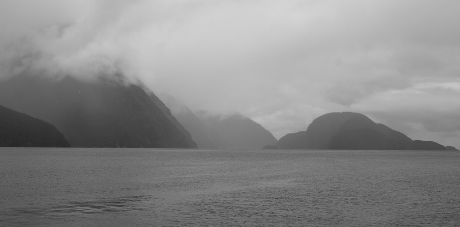 One of the many faces of the Doubtful Sound on South Island, New Zealand. It was certainly a cold...