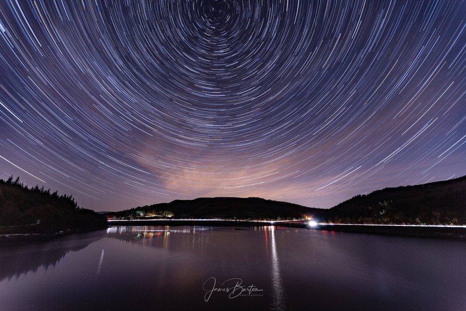 A stack of 110 × 30 second exposures taken at Ladybower Reservoir, up in the peak district natio...