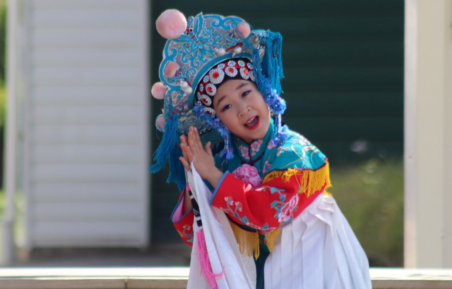 A Member of the Peace Angel Arts Troupe