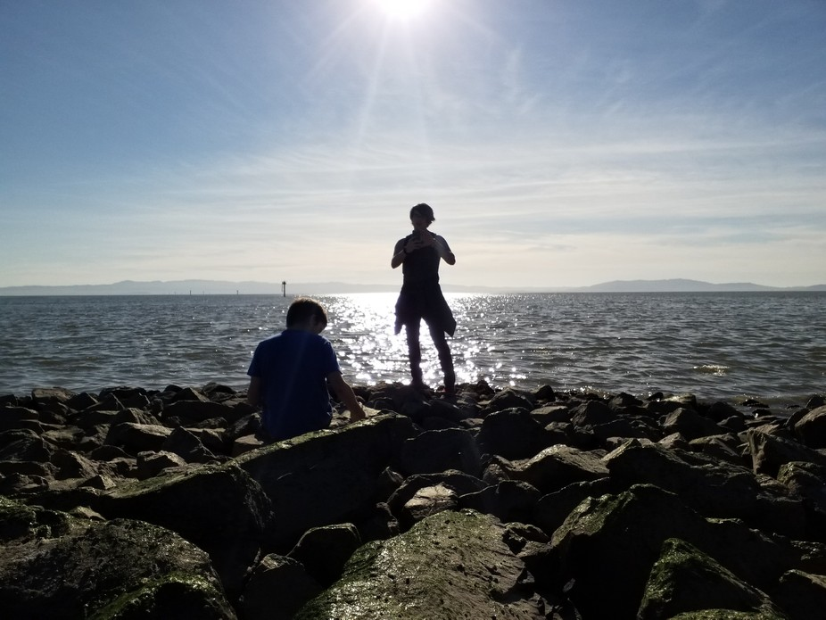 my sons, out at Marina Park. No filters, no ads, just saw something beautiful and pushed the butt...