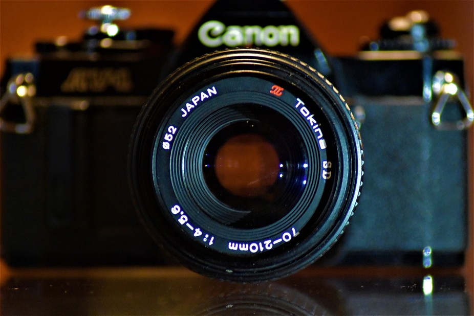 an old model of a canon camera
