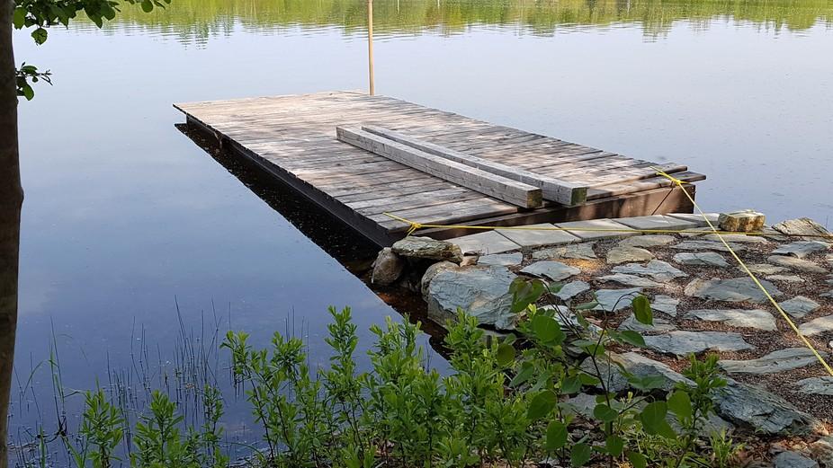 Quai sur le Lac-a-la-truite, Québec, Canada
