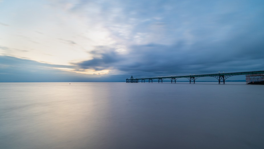 Went to Clevedon pier and snapped this at sunset